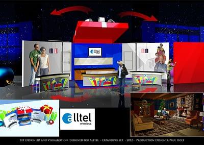 Set Design 3D And Visualization - Alltel - Expanding Set - 2012