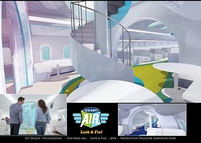 Set Design Visualization - Old Navy Air - Look & Feel - 2014