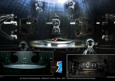 Set Design Visualization - Wrigley's 5 Gum - Rain - 2007