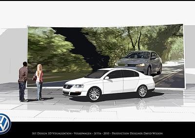 Set Design Visualization - Volkswagen - Jetta - 2010