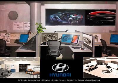 Set Design Visualization - Hyundai - Design Studio