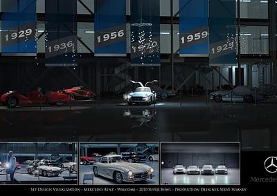 Set Design Visualization - Mercedes Benz - Welcome - 2010 Super Bowl
