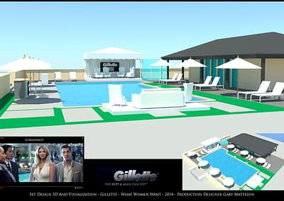 Set Design 3D And Visualization - Gillette - What Women Want - 2014