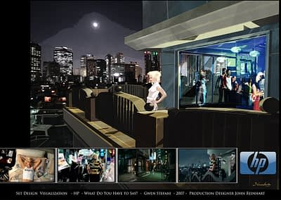 Set Design Visualization - HP - What Do You Have To Say - Gwen Stefani - 2007