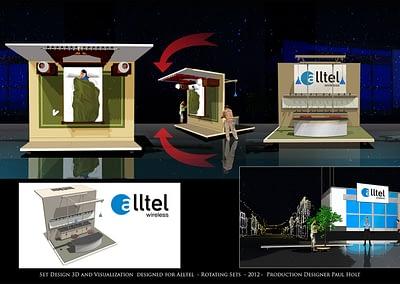 Set Design 3D And Visualization - Alltel - Rotating Sets - 2012