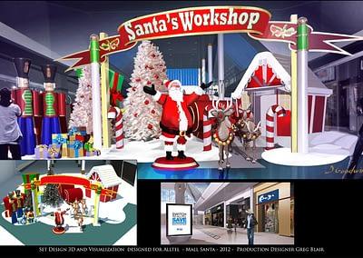 Set Design 3D And Visualization - Alltel - Mall Santa - 2012