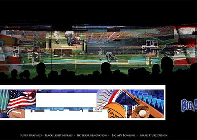Big Al's Bowling - Black Light Murals