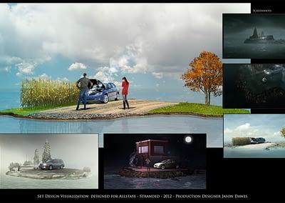 Set Design Visualization - AllState - Stranded - 2012