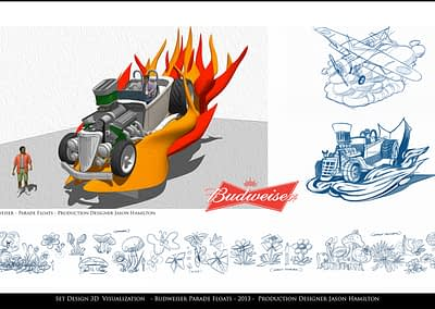 Set Design Visualization - Budweiser Parade Floats - 2013
