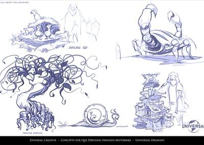 Concept for Que Dressing Hagrids Motor Bike